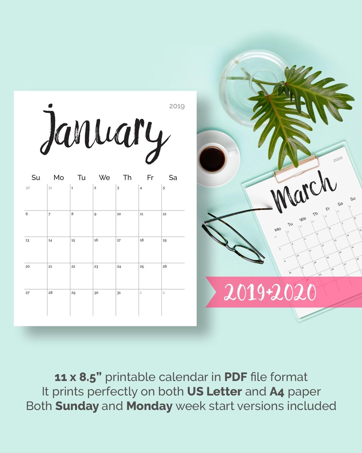 Printable Calendar Desk Calendar
