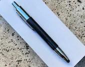 Black Carbon Fibre and Chrome Panama Click Stylus Pen with Case
