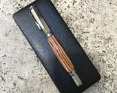 Fountain Pen Olive Wood Vertex With Gunmetal Accents, Handcrafted
