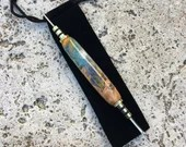 Multi Coloured Resin and Burl Seam Ripper / Stiletto, Handcrafted