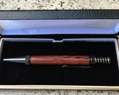 Hairy Oak Spanner Click Pen With Gunmetal Accents, Handcrafted