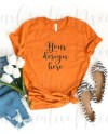 Bella Canvas Burnt Orange Shirt Mockup 3001 Summer Year Etsy
