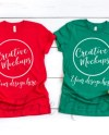 Bella Canvas Red And Kelly Green Shirt Mockups 3001 Etsy