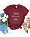 Bella Canvas Heather Cardinal Shirt Mockup 3001 Summer Etsy