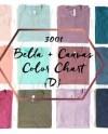 Bella Canvas Color Chart Mockup 3001 C Folded T Shirt Etsy