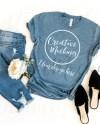 Bella Canvas Heather Slate Blue T Shirt Mockup 3001 Etsy