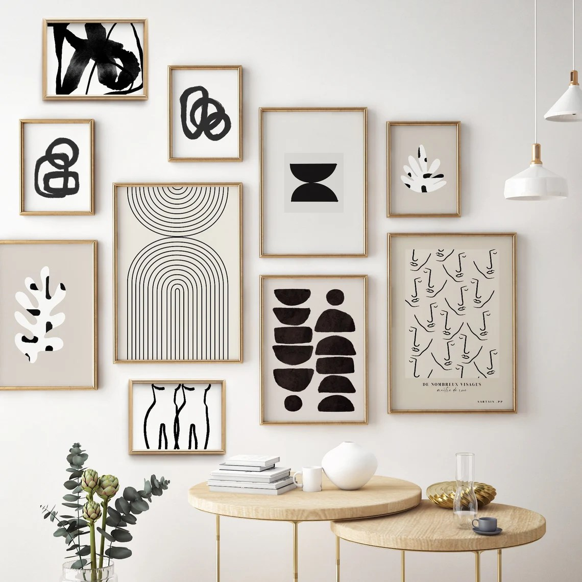 Modern Gallery Wall Set Set of 10 Prints Gallery Wall image 0