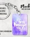 Rectangle Hard Board Mdf Sublimation Keychain Mockup Template Etsy