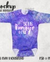 Dye Sublimation Baby Long Sleeve One Piece Mockup Template Etsy