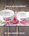 Dye Sublimation Pet Mat And Pet Bowls Mockup Template Add Etsy