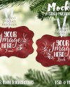 Double Sided Presidio Ornament Mockup Template Add Your Own Etsy