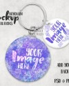 Button Keychain With One Large And One Small Button Mockup Etsy