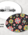 Large Oval Barrette Template Mockup Add Your Own Image And Etsy