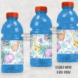 Sports Drink Bottle Label Mockup Template Add Your Own Image Etsy
