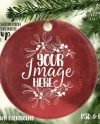 Round Glass Christmas Ornament Mockup Template Add Your Own Etsy