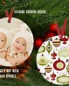 Double Sided Round Porcelain Christmas Ornament Mockup Etsy