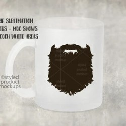 11 Ounce Frosted Glass Mug Mockup Template Add Your Own Etsy