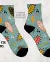Pair Of Socks With Black Heel And Toe And 3 5 Inch White Cuff Etsy