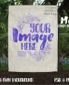 Dye Sublimation Linen Garden Flag Mockup Add Your Own Image Etsy