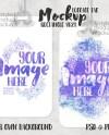 Dye Sublimation Rectangle 4621 Luggage Tag Mockup Add Your Etsy