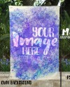 Dye Sublimation Garden Flag Mockup Template Add Your Own Etsy