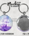 Button Keyring Mockup Template With Metal Tab Front And Back Etsy