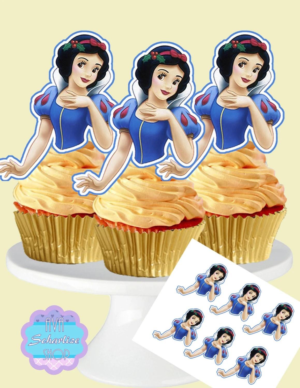 Snow White Cupcake Toppers Cupcake Picks Diy Printable
