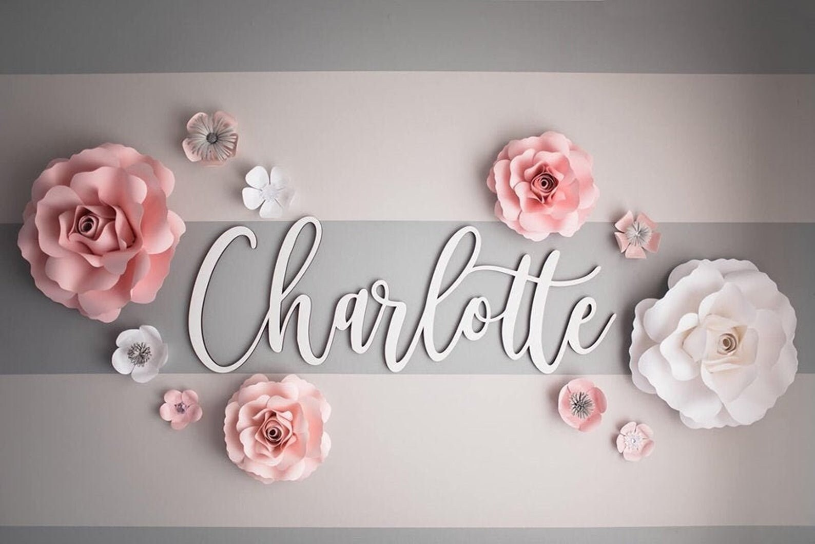 Baby name sign cutout  Name cut out  Personalized name sign image 6