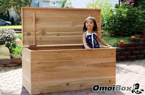 Custom Large Cedar Chest Outdoor Storage Bench Storage Etsy