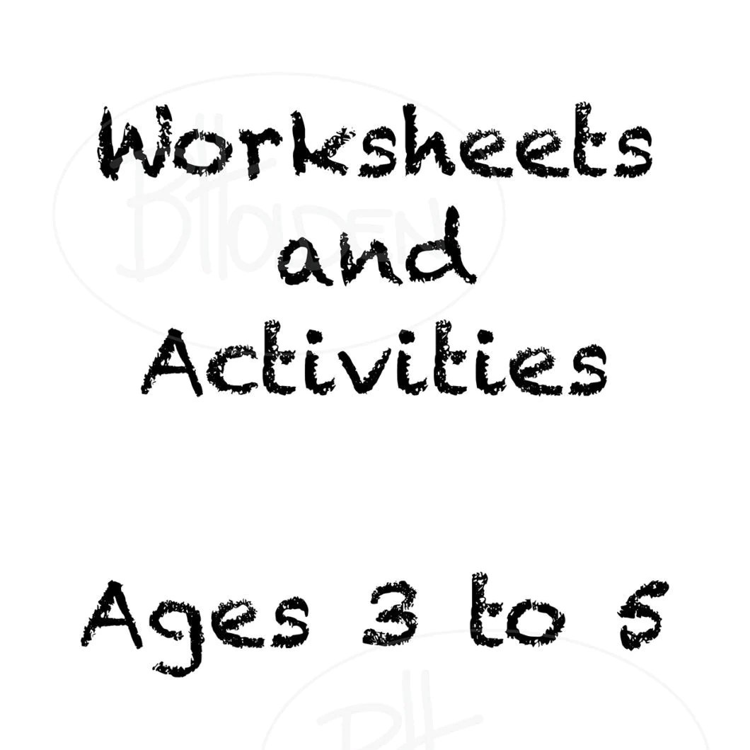 Toddler Worksheets And Activities Digital File