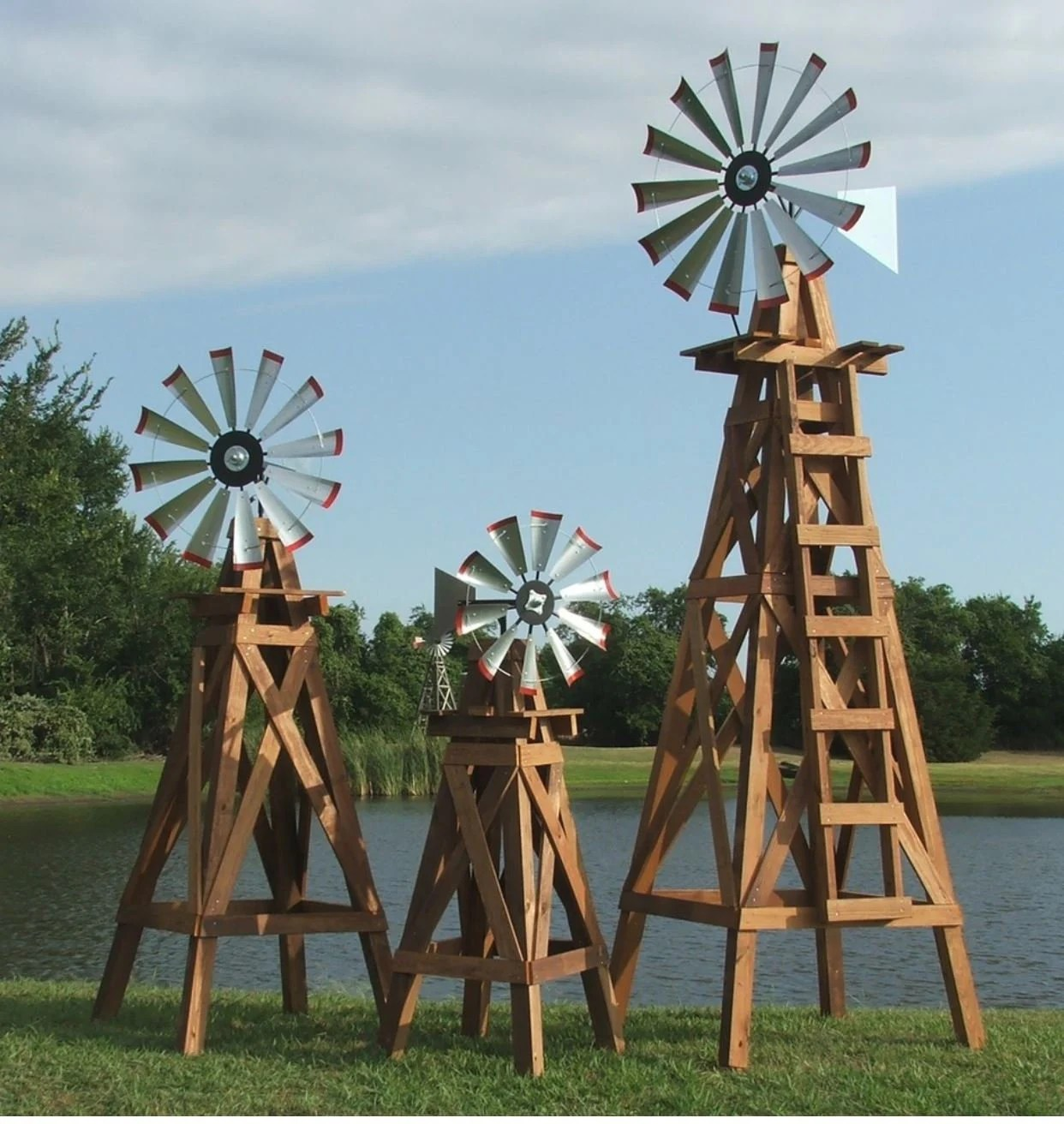 11 Foot Windmill Head And Tail Kit 38 Inch Yard Decor Real