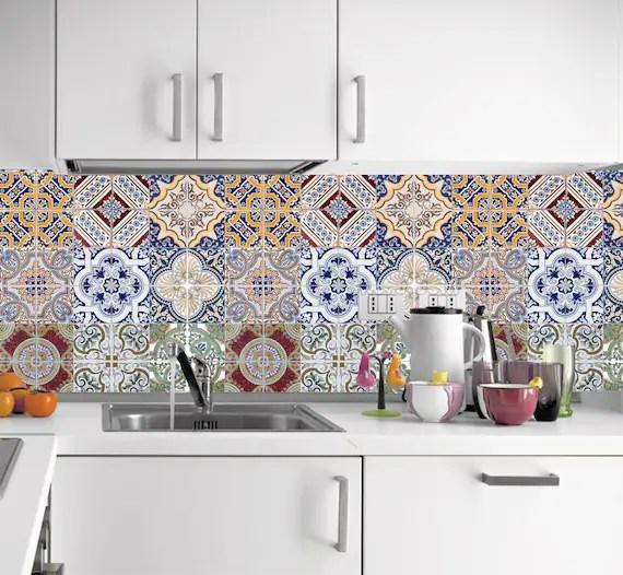 kitchen tile stickers tile stickers for bathroom backsplash etsy