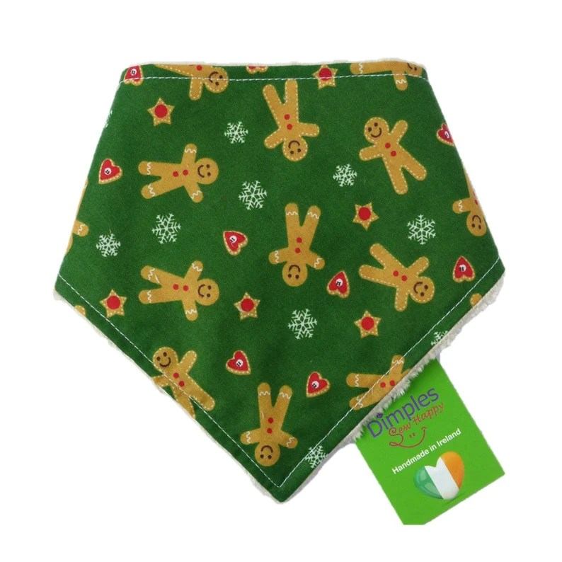 Gingerbread Man  Christmas Dog Bandana  Green dog image 0