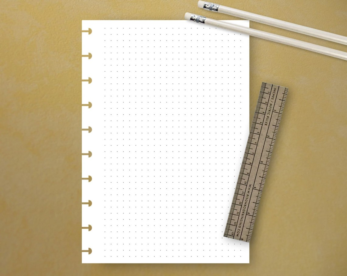 PRINTABLE Dot Grid, Fits ...