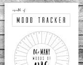 Monthly Mood Tracker Circ...