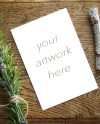 Mockup For Greeting Card Note Card W Rosemary Styled Stock Etsy