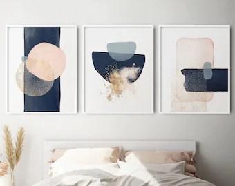 bedroom art set etsy