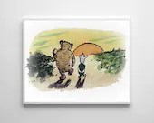 Winnie The Pooh Traditional Artwork 5 - PRINTED Classic kids bedroom office nursery old style lounge kitchen home decor