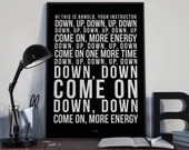 Arnold (More Energy) - Song Lyrics Typography Luke Million Tribute - PRINTED music Art bedroom office lounge home decor