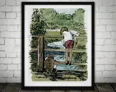 Winnie The Pooh Traditional Artwork 2  - PRINTED Art Classic kids bedroom office nursery old style lounge kitchen home decor