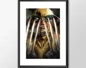 Wolverine Claws - PRINTED -  for the Big Boys Geek man cave nerds bedroom office superhero marvel comics