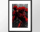 Daredevil - PRINTED -  for the Big Boys Geek man cave nerds bedroom office superhero marvel comics