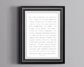 Haunting Of Hill House - Shirley Jackson Tribute Typography  - PRINTED  Art bedroom office old style lounge kitchen home decor