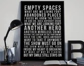 The Show Must Go On - Song Lyrics Typography Queen Freddie Mercury Tribute - PRINTED music Art bedroom office lounge home decor