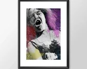 Janis Joplin Wild Woman Music Tribute - PRINTED Boys and girls Geek man woman cave nerds bedroom office
