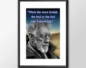 Star Wars Art - Obiwan - Who's the more foolish - PRINTED Boys girls Geek kids man cave nerds bedroom office