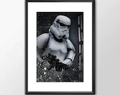 Stormtrooper - Star wars inspired - PRINTED for the Big Boys and girls Geek man woman cave nerds bedroom office kids
