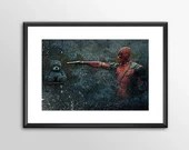 Deadpool 4 - PRINTED -  for the Big Boys Geek man cave nerds bedroom office superhero marvel comics