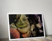 Janis Joplin Music Tribute   - PRINTED Boys and girls Geek man woman cave nerds bedroom office