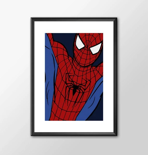 SPIDERMAN - comic book style for the Big Boys Geek man cave nerds bedroom office kids nursery superhero marvel comics
